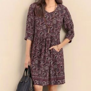 Garnet Hill bohemian pocket detail dress